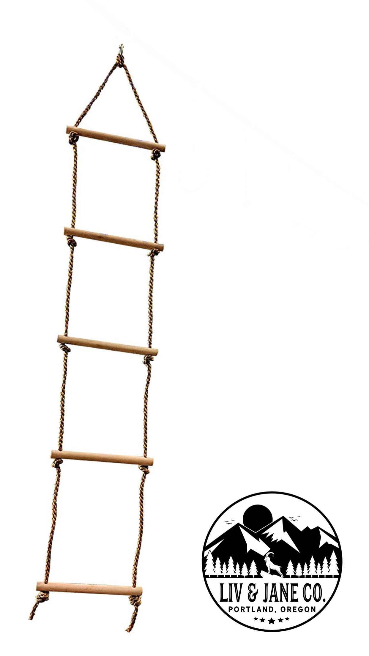 Rope Climbing Ladder - Ninja Training Line Attachment - Obstacle Course Accessory