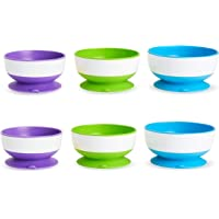 Munchkin 6 Count Stay Put Suction Bowl (Pack of 2)