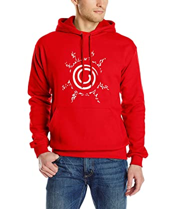 WEEKEND SHOP Hoodie Anime Sweatshirt Men Uzumaki Naruto Clothing Hip hop Mens Hoodies Red