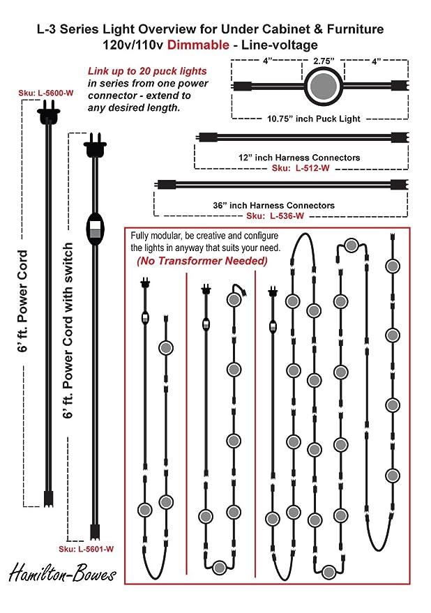 120 Line-Voltage LED Strip Light - Warm (3, 000k) - Dimmable - Under on