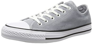 049761e1fb2f Converse Women s Chuck Taylor All Star Ox Velvet Shoes-Wolf Grey White-5