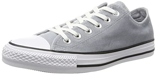 919c2b6c361df Converse Unisex Adults' CTAS Ox Wolf Grey White Trainers: Amazon.co ...