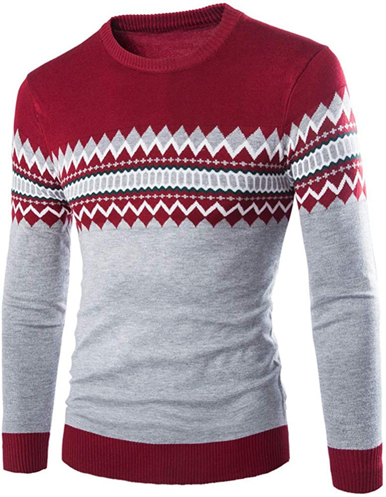 Z/&Y Glaa Mens Jumper Pullover Winter Sweater Chunky Cable Knit Pullover Thick Jumper Warm Winter Sweater umper Chunky Cable Warm Thick Pullover for Winter with Crew Neck,