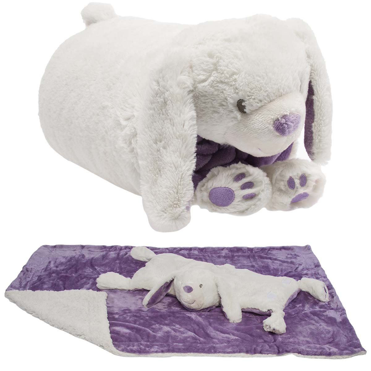 Details About Snuggle Me Sherpa Soft Baby Blanket Plush Pillow Stuffed Animals Large For
