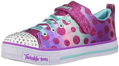 43cc5965a71 Skechers Kids Girls  Twinkle LITE-Dainty DOTS Sneaker hot Pink Multi 1  Medium