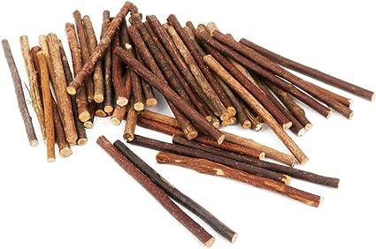 ULTNICE Holz Sticks 100pcs 10CM langes 0.5-0.8CM St/äbe im Durchmesser f/ür DIY Handwerk h/ölzerne Farbe