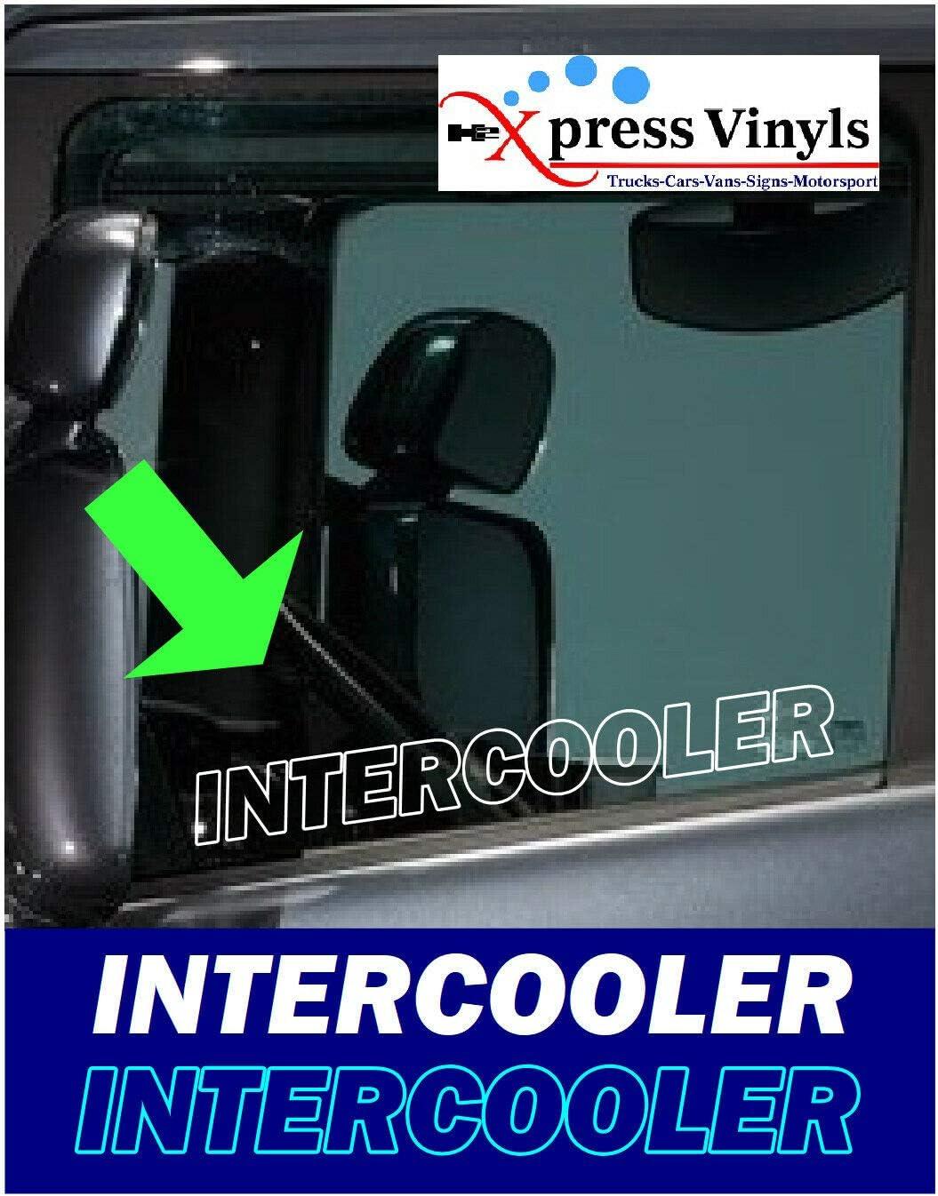 Myrockshirt 2x Schriftzug Für Seitenscheibe Intercooler Truck Lkw Aufkleber Sticker Decal Autoaufkleber Uv Waschanlagenfest Profi Qualität Auto