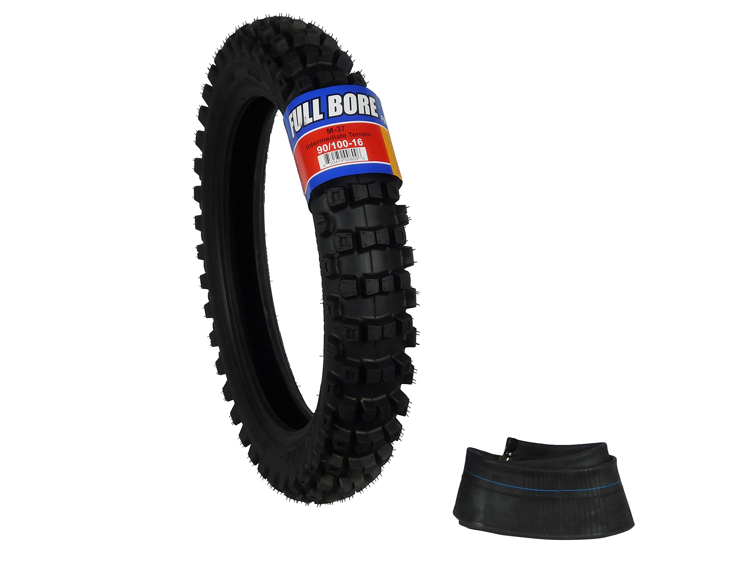 Full Bore 90/100-16 M37 Intermediate Terrain Dirt Bike Tire with TR-4 Inner Tube