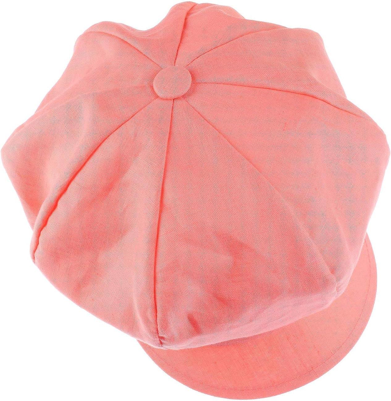 One Size ca. 54-61 cm Made in Italy Damencap mit elastischem Gummizug Schirmm/ütze aus Leinen und Baumwolle Lipodo Classic Ballonm/ütze Damen Newsboy-M/ütze Fr/ühjahr//Sommer