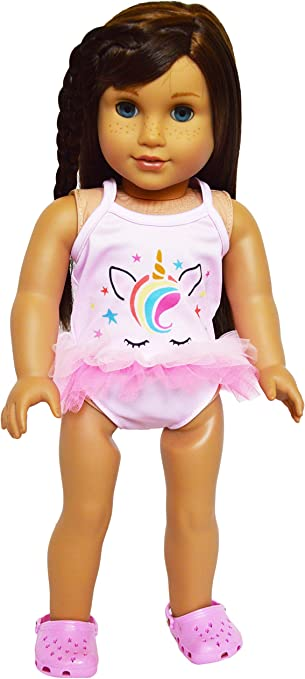 Lovely Printed Swimwear Swimsuit Bikini for American Doll 18inch Doll Outfit
