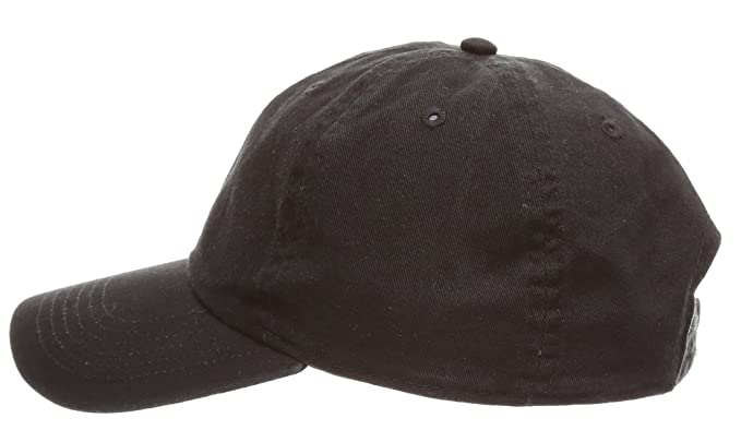 1c099c9a MIRMARU Plain Stonewashed Cotton Adjustable Hat Low Profile Baseball Cap.(Black)  at Amazon Men's Clothing store: