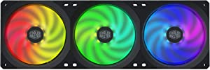 Cooler Master MasterFan SF360R ARGB 360mm All-in-One Square Frame Fan w/ 24 Independently-Controlled ARGB LEDs, Cable Management, PWM Control Fan for Computer Case and CPU Liquid Cooler