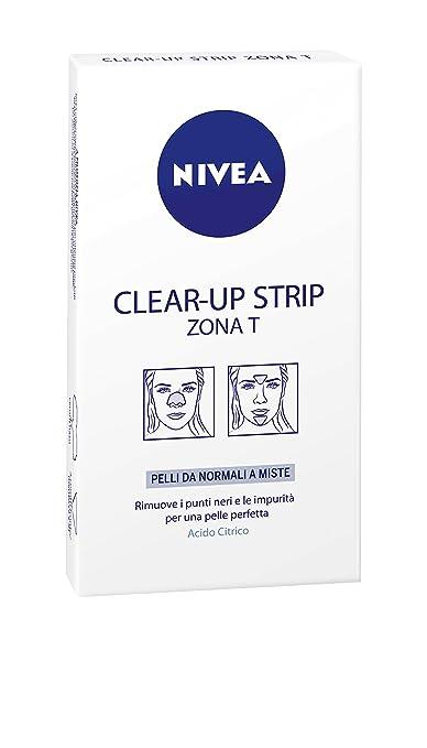 186 opinioni per Nivea- Clear-up Strip Zona T, rimuve I punti neri e le impurità per una pelle