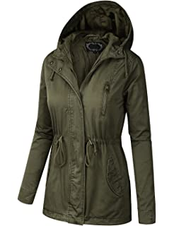c7f68515e4d BILY Women Plus Size Anorak Safari Hoodie Jacket