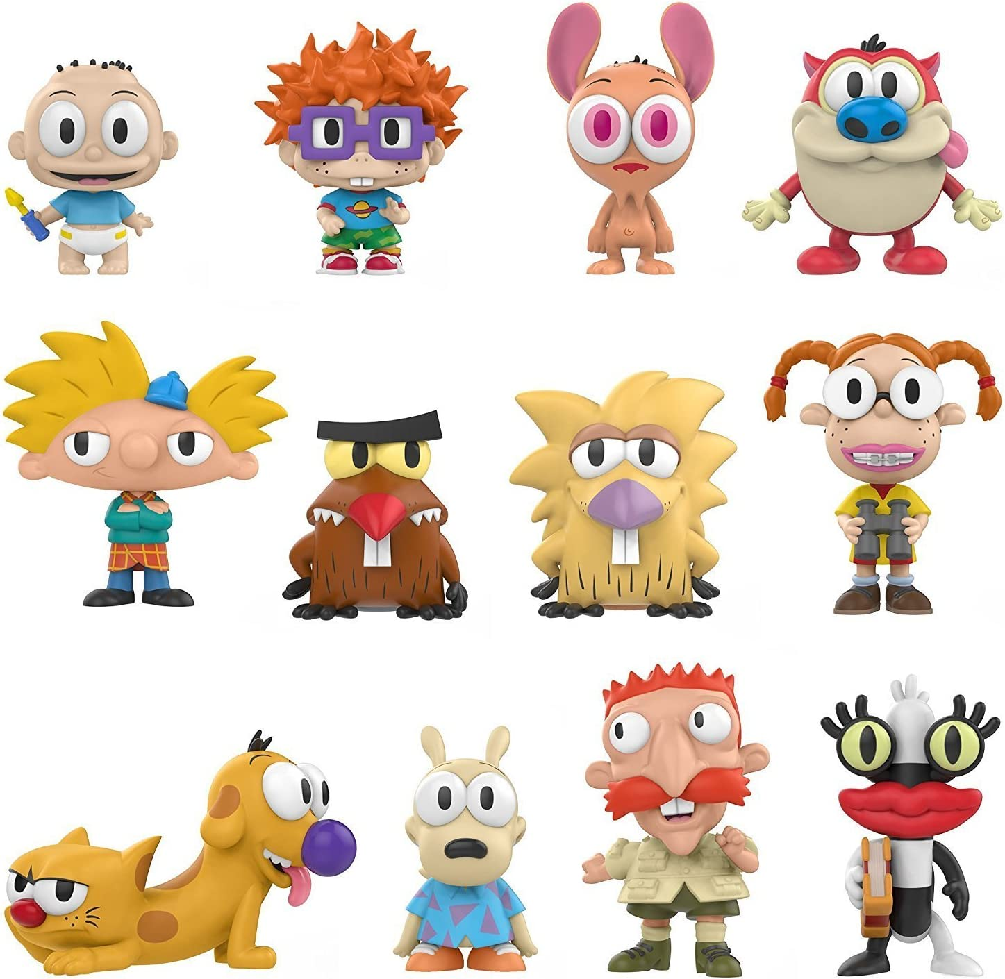The 90s Ren /& Stimpy Nick Figs Figure Collection Nickelodeon Mini Character Figure Cartoon Bundle Happy Joy 2 Pack Exclusive Dorbs Blind Box Minis