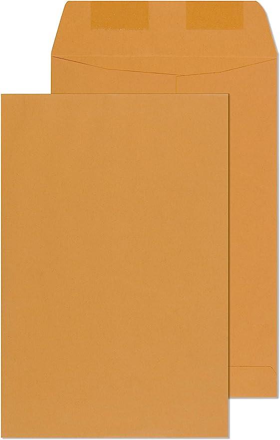 #63 Open End Statesman Clasp Catalog Envelopes Box of 100 6-1//2 x 9-1//2 28# Recycled Tan//Brown Kraft Metal Clasp