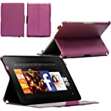 "Navitech Leather Case Cover Sleeve WITH WAKE & SLEEP FUNCTION For The Kindle Fire HD 8.9 "" Inch 4G Amazon Tablet e-reader Device (Does fit the kindle fire HD 8.9) Android 4.0 (Purple)"