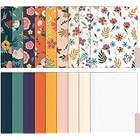 EOOUT 18 Pack Cute File Folders Decorative File Folders Floral Folders Letter Size Colored File Folders,1/3-Cut Tabs, 9…