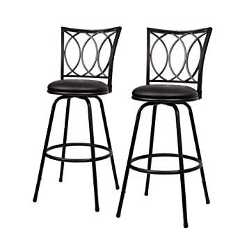 Sensational Amazon Com Overstock Adjustable Height Bar Stool Set In Gmtry Best Dining Table And Chair Ideas Images Gmtryco