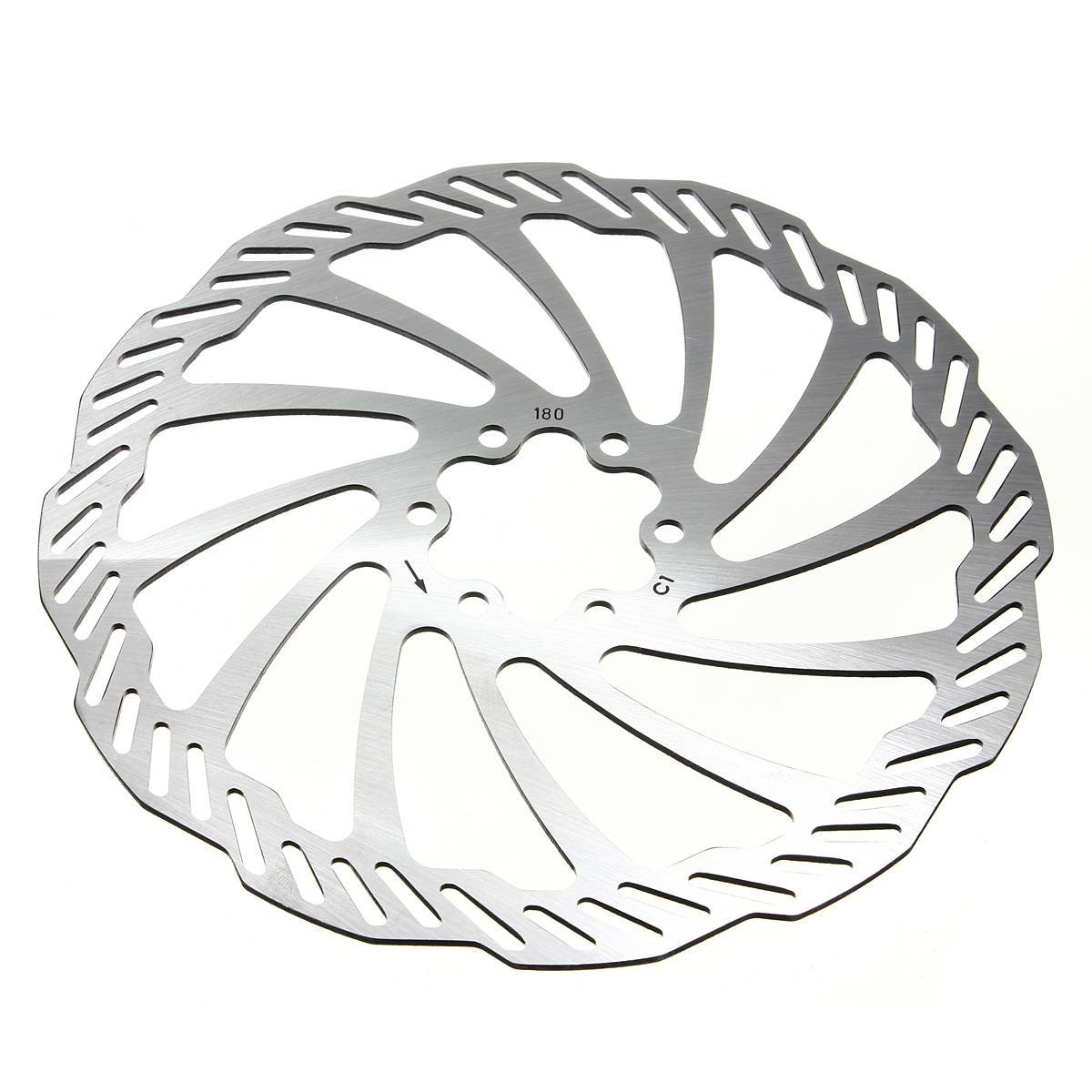 OUTERDO Cycling Bicycle Bike Brake Disc Rotors 120mm/140mm/160mm/180mm/203mm With Bolts 180mm by OUTERDO
