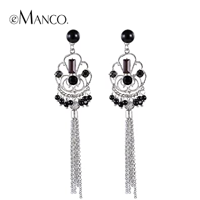 7355ce42b Image Unavailable. Image not available for. Color: GemMart Jewelry Women  earrings spring new arrival women long chain tassel earring zinc alloy cute  ear
