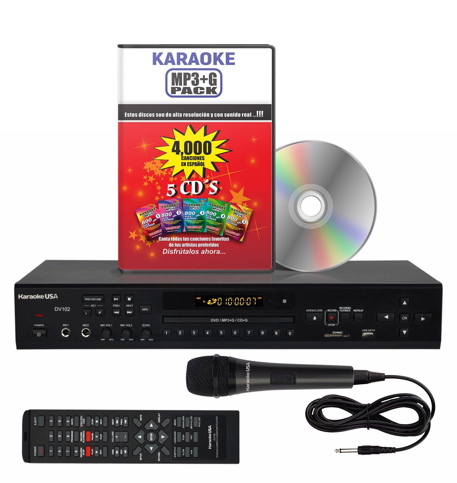 Karaoke Player SPANISH VERSION DV102 DVD/CDG/MP3G 4000 Songs