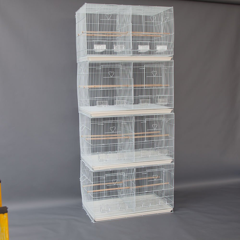 Lot of 4 Breeding Bird Carrier Cage with Dividor for Parakeet Canary Finch Loverbird Flyline