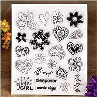 Kwan Ambachten Bloemen Vlinder Hart Je Rock Meisje Heldere Postzegels voor Card Maken Decoratie en DIY Scrapbooking