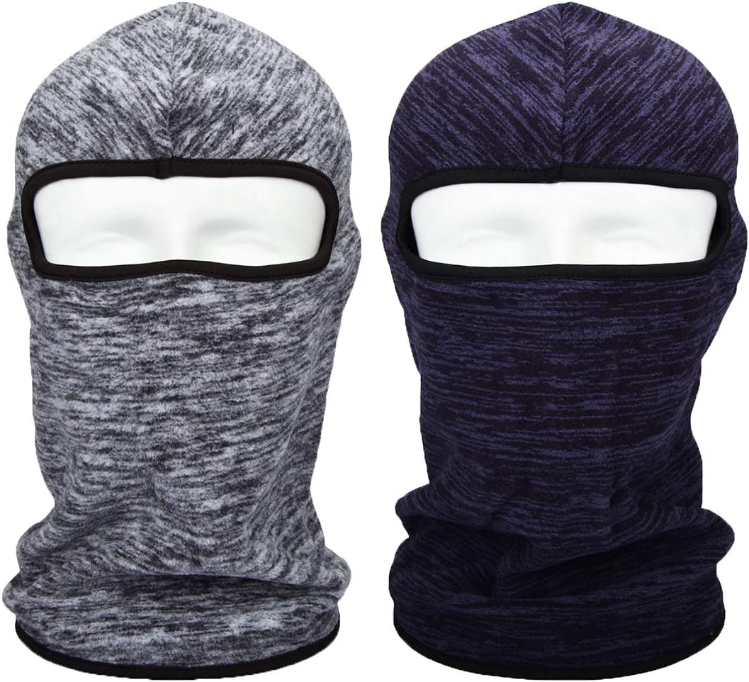 HOPESHINE Balaclava Windproof Ski Mask Beanie Thermal Full Face Mask Motorcycle Helmet for Winter Cold Weather for Men Women Grey, 1-PACK