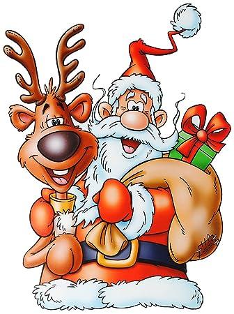 Unbekannt 1 Bogen Fensterbilder Weihnachten Comic