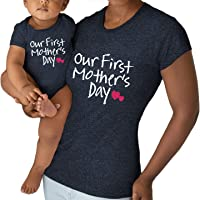 Our First Mothers Day Matching Outfit Baby Gifts for New mom Shirt for Daughter