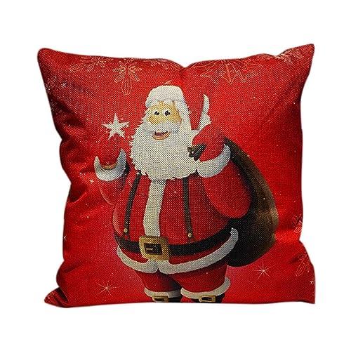 Almohadas viscoelasticas baratas, Subfamily® Navidad sofá cama decoración del hogar Festival funda de almohada funda de cojín (A): Amazon.es: Zapatos y ...