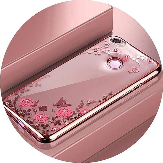 Amazon.com: for Xiaomi Redmi 4X Case Silicone Diamond Clear ...