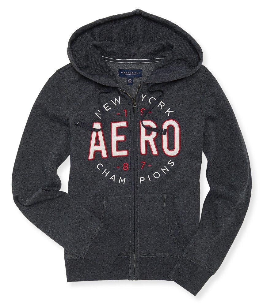 Aeropostale Womens Full Zip Hoodie New York Medium Dark Gray by Aeropostale