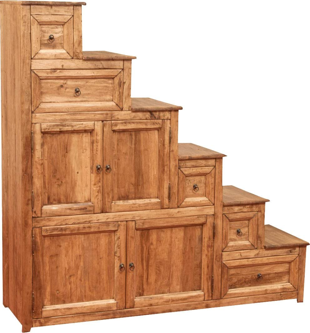 Biscottini - Mueble cajonera a escala Country de madera maciza de tilo, acabado natural, 140 x 42 x 142 cm: Amazon.es: Hogar