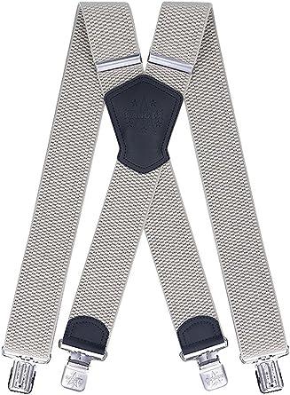 Men/'s Braces Y Shape Suspenders Heavy duty 5cm x 130cm gray justable and elastic