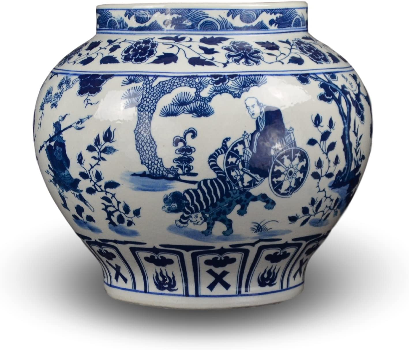 Classic Blue and White Yuan Porcelain Vase