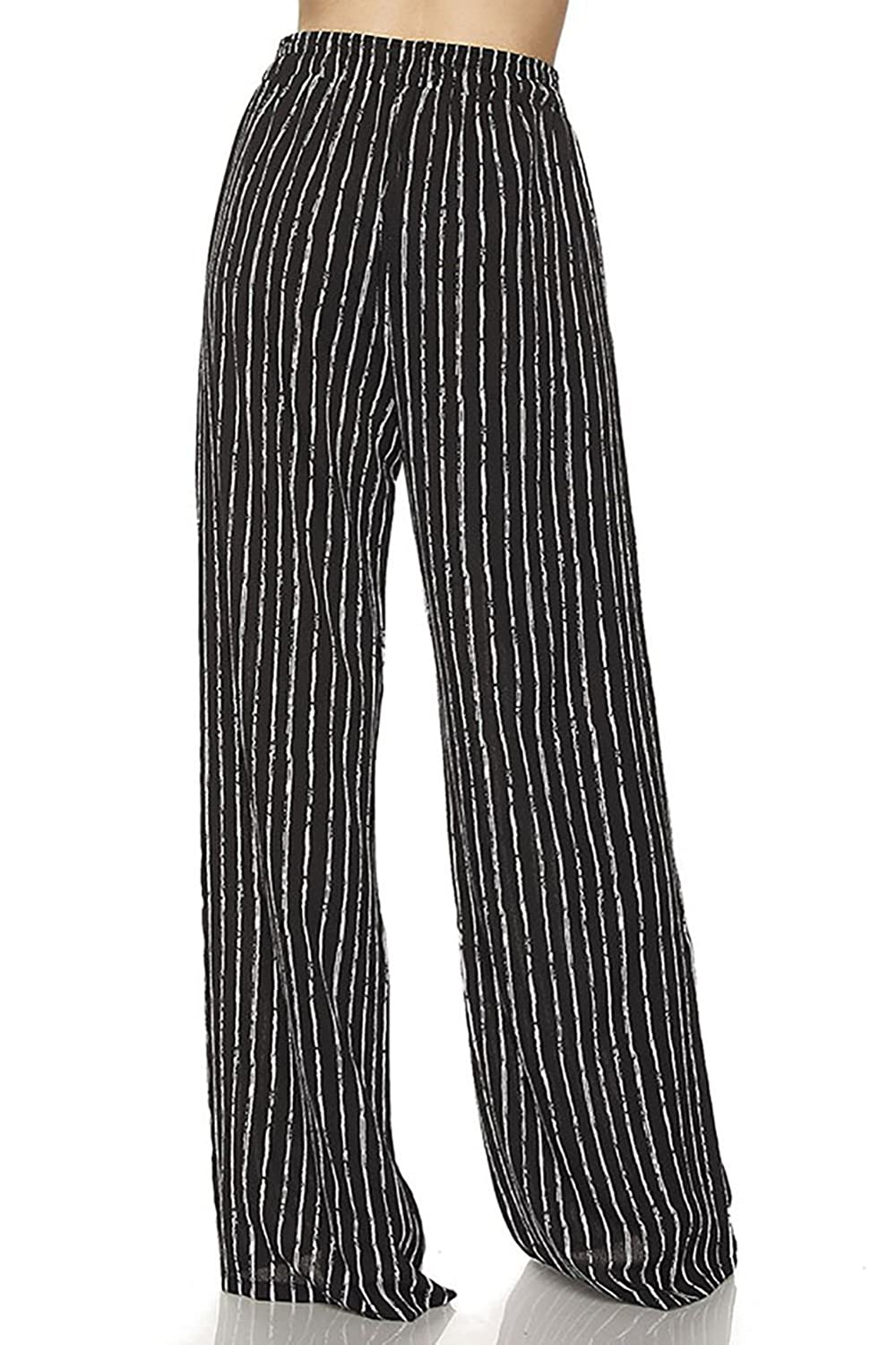 f8a56638734c3 Vina Vino Women's Striped Ultra Wide Leg Stretchy Palazzo Pants at Amazon  Women's Clothing store:
