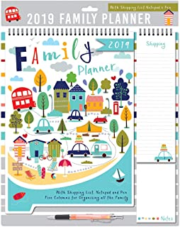 Boxclever Press 2019 Family Home Planner Calendar  Month-to-View