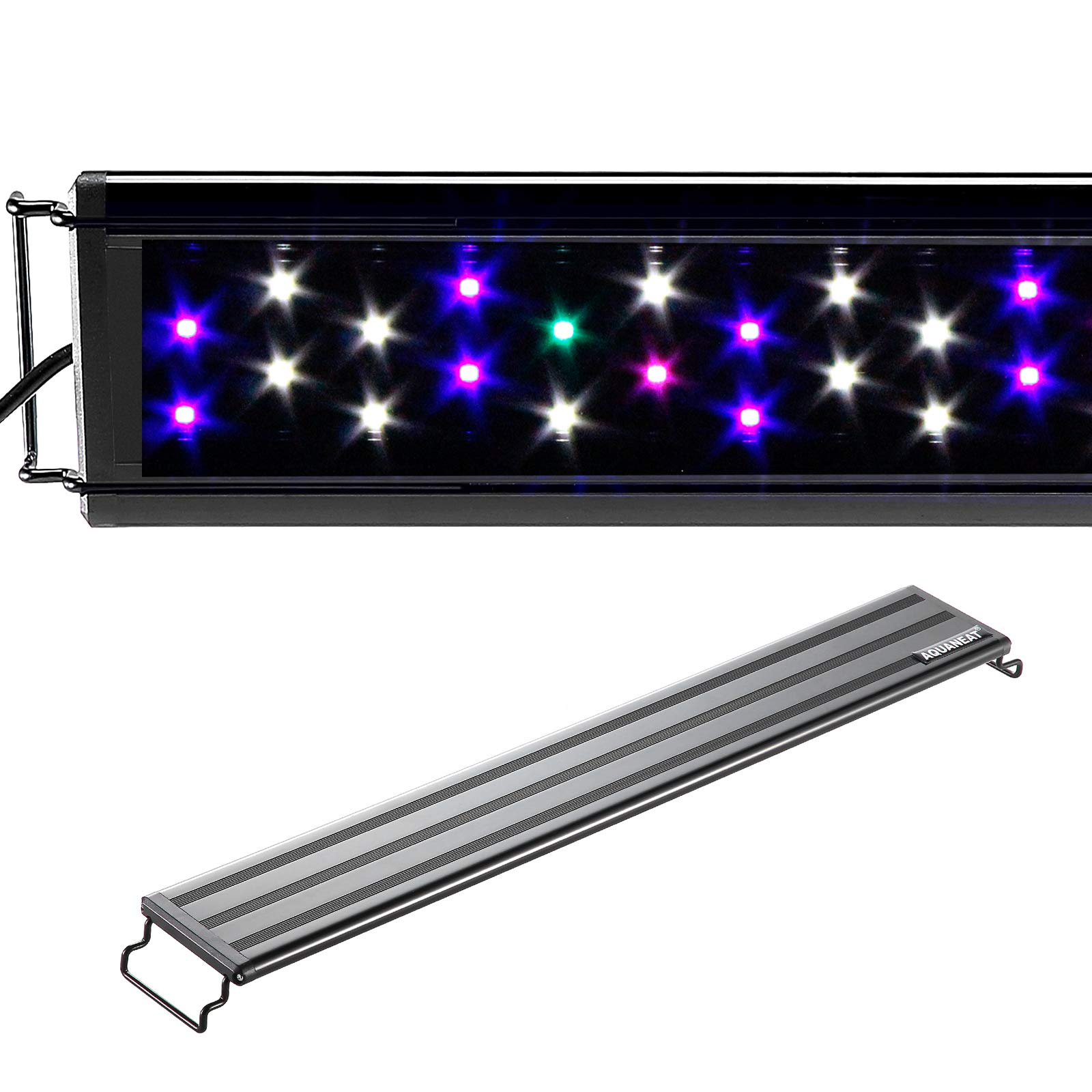 Aquaneat Aquarium Light Full Spectrum Fish Tank Light Multi-Color LED Marine FOWLR (19''-24'')