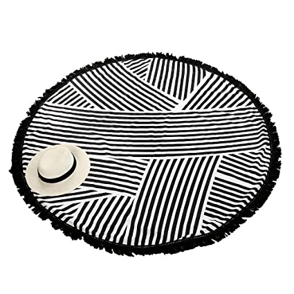 Toallas de playa, Sannysis Mantel Mandala redondo de algodón con diseño Hippy, 150cm x