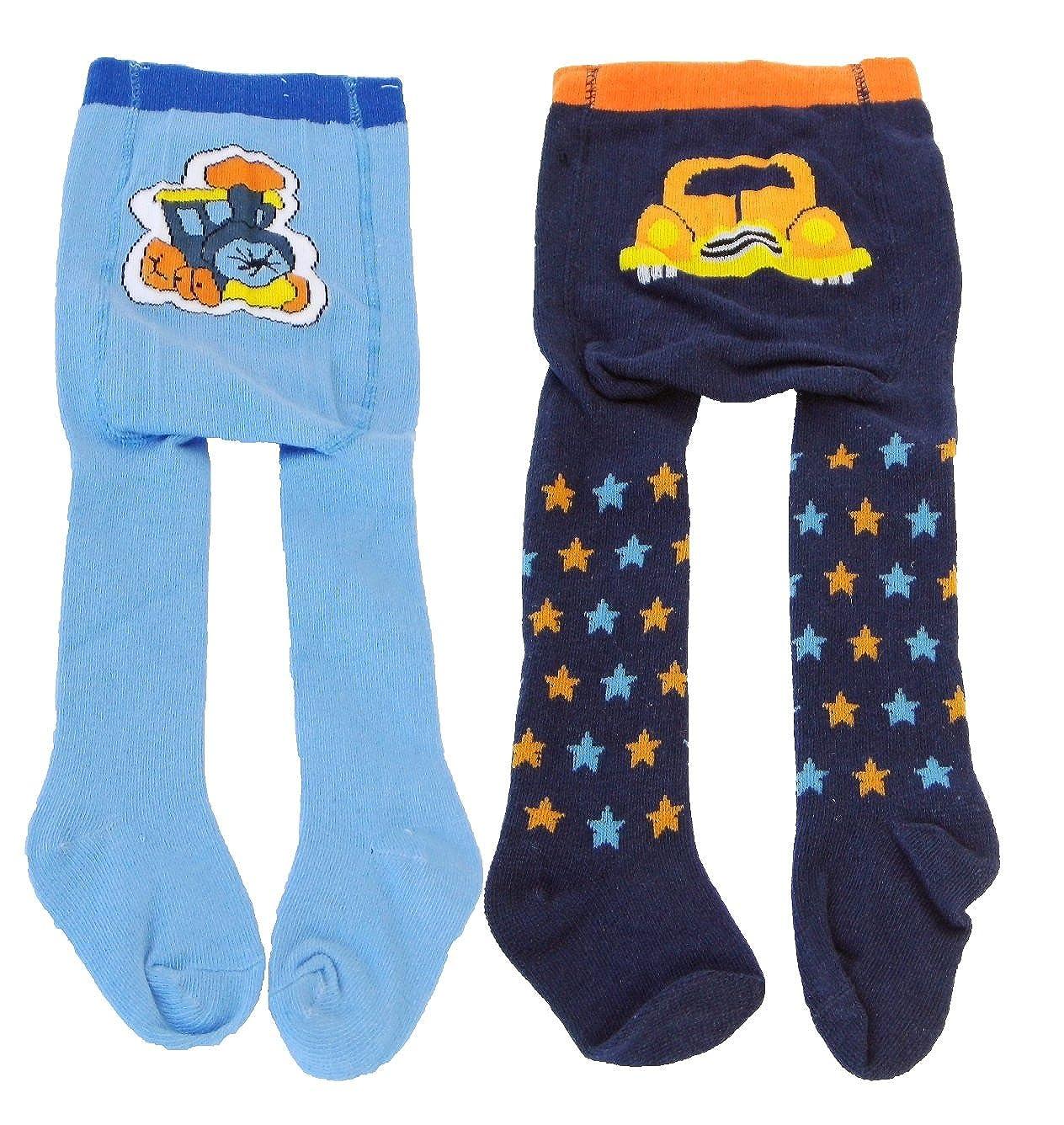M4 Baby Jungen Strumpfhose Strickstrumpfhose 2er Pack