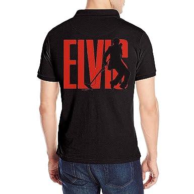 057ffaf535 KOOsuave Men's Elvis Presley King Of Rock And Roll Super Star Polo Shirt S