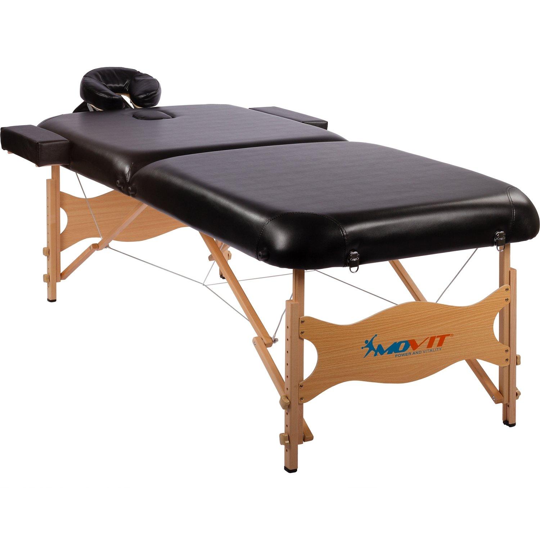 Table de massage Movit Deluxe /Étui rembourr/é largeur sans produits nocifs structure en bois noir couleur au choix