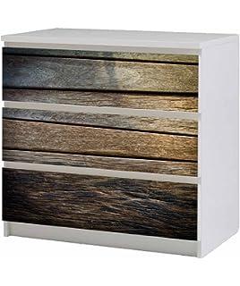 Kommode ikea holz  Amazon.de: Aufkleber für IKEA Malm Kommode 80x100cm Holz 1 ...