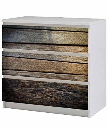 Amazon De Aufkleber Mobeltattoo Fur Ikea Malm Kommode 80x78cm Holz