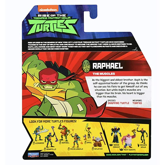 Teenage Mutant Ninja Turtles TUAB0100 Raph The Leader The Rise of Basic Action Figura