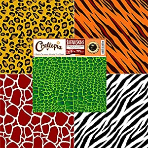Amazon Com Safari Patterned Vinyl Sheets Animal Prints 4