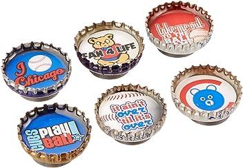 Kate Grenier Designs Chicago Cubs Bottle Cap Magnets