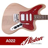amazon com alston guitars diy electric guitar kit bolt on alston guitars diy electric guitar kit bolt on solid mahogany body